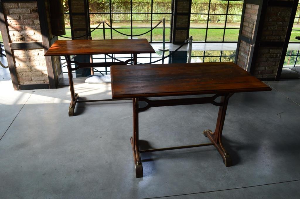 Coppia di tavoli bistrot francese anni 40